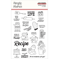 Simple Stories - Apron Strings collection Clear Stamps