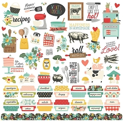 Simple Stories - Apron Strings collection 12x12 Combo Stickers