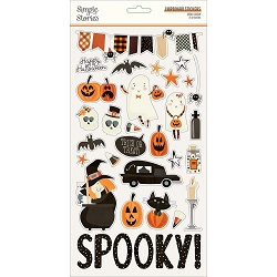 Simple Stories - Boo Crew collection Chipboard stickers