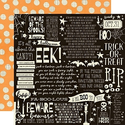 Simple Stories - Boo Crew collection - Cast A Spell 12x12 cardstock