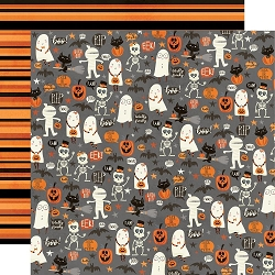 Simple Stories - Boo Crew collection - Our Little Spooks 12x12 cardstock