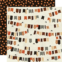 Simple Stories - Boo Crew collection - Ew, Creepy 12x12 cardstock