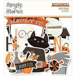 Simple Stories - Boo Crew collection Ephemera Bits & Pieces Die-Cuts