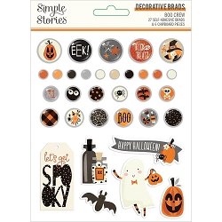 Simple Stories - Boo Crew collection Decorative Brads