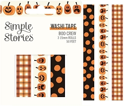 Simple Stories - Boo Crew collection Washi Tapes (3 rolls)