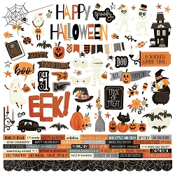 Simple Stories - Boo Crew collection 12x12 Combo Stickers