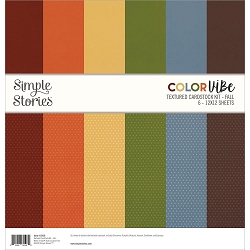 Simple Stories - Color Vibe Fall 12x12 Textured Cardstock kit