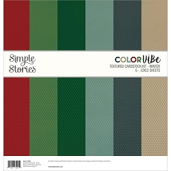 Simple Stories - Color Vibe Winter 12x12 Textured Cardstock kit