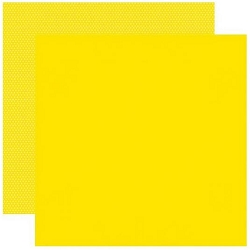 Simple Stories - Yellow Color Vibe 12x12 Textured Cardstock