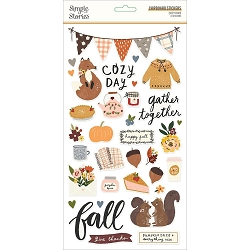 Simple Stories - Cozy Days collection Chipboard stickers