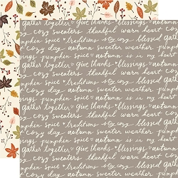 Simple Stories - Cozy Days collection - Harvest Wishes 12x12 cardstock