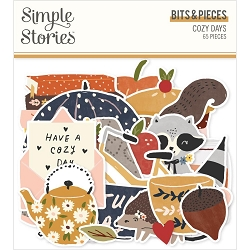 Simple Stories - Cozy Days collection Ephemera Bits & Pieces Die-Cuts