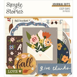 Simple Stories - Cozy Days collection Journal Bits & Pieces Die-Cuts