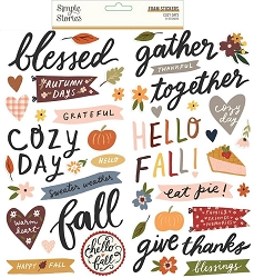 Simple Stories - Cozy Days collection Foam Stickers