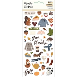 Simple Stories - Cozy Days collection Puffy Stickers