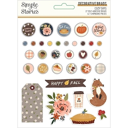 Simple Stories - Cozy Days collection Decorative Brads