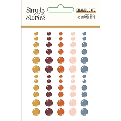 Simple Stories - Cozy Days collection Enamel Dots