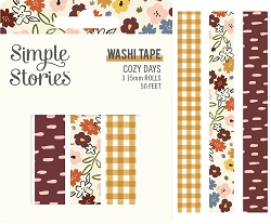 Simple Stories - Cozy Days collection Washi Tapes (3 rolls)