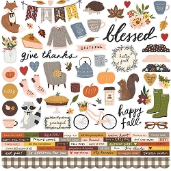 Simple Stories - Cozy Days collection 12x12 Combo Stickers