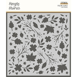 Simple Stories - Cozy Days collection Falling Leaves Stencil (6x6)