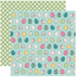 Simple Stories - Hip Hop Hooray collection - Egg-Stra Special 12x12 cardstock