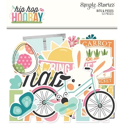 Simple Stories - Hip Hop Hooray collection Bits & Pieces Die-Cuts