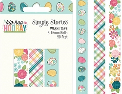 Simple Stories - Hip Hop Hooray collection Washi Tapes (3 rolls)