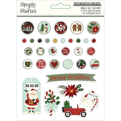 Simple Stories - Jingle All The Way collection Decorative Brads