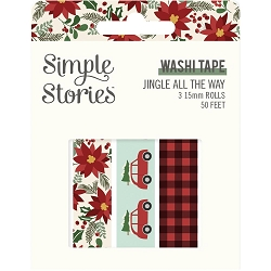 Simple Stories - Jingle All The Way collection Washi Tapes (3 rolls)