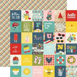 Simple Stories - Summer Farmhouse collection - 2x2 Elements 12x12 cardstock
