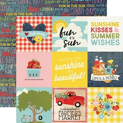 Simple Stories - Summer Farmhouse collection - 4x4 Elements 12x12 cardstock