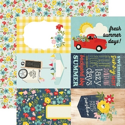Simple Stories - Summer Farmhouse collection - 4x6 Elements 12x12 cardstock