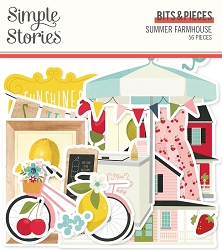 Simple Stories - Summer Farmhouse collection Ephemera Bits & Pieces Die-Cuts