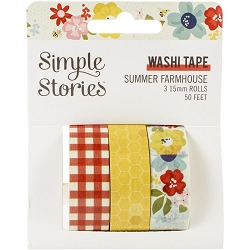 Simple Stories - Summer Farmhouse collection Washi Tapes (3 rolls)