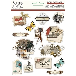 Simple Stories - Simple Vintage Ancestry collection Layered Stickers