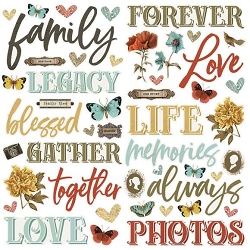 Simple Stories - Simple Vintage Ancestry collection Foam Stickers