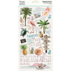 Simple Stories - Simple Vintage Coastal collection Chipboard stickers