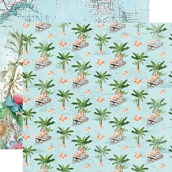 Simple Stories - Simple Vintage Coastal collection - Tropical Life 12x12 cardstock