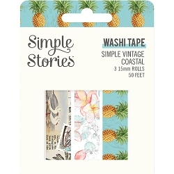 Simple Stories - Simple Vintage Coastal collection Washi Tapes (3 rolls)