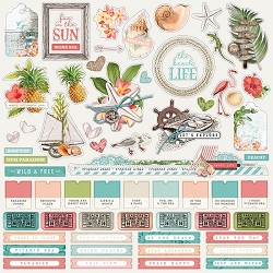 Simple Stories - Simple Vintage Coastal collection 12x12 Combo Stickers