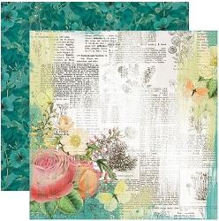 Simple Stories - Simple Vintage Garden District collection - Live For Today 12x12 cardstock