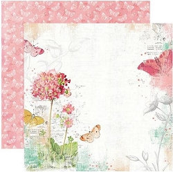 Simple Stories - Simple Vintage Garden District collection - Never Stop Dreaming 12x12 cardstock