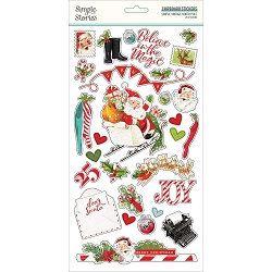 Simple Stories - Simple Vintage North Pole collection Chipboard stickers