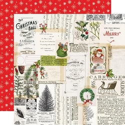 Simple Stories - Simple Vintage North Pole collection - Merry Memories 12x12 cardstock