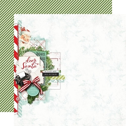 Simple Stories - Simple Vintage North Pole collection - Dear Santa 12x12 cardstock