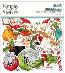 Simple Stories - Simple Vintage North Pole collection Santa Bits & Pieces Die-Cuts