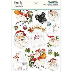 Simple Stories - Simple Vintage North Pole collection Sticker Book