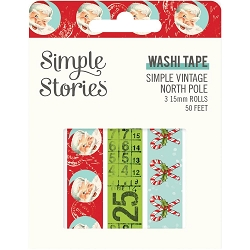 Simple Stories - Simple Vintage North Pole collection Washi Tapes (3 rolls)