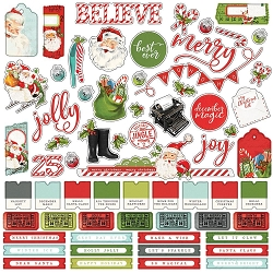 Simple Stories - Simple Vintage North Pole collection 12x12 Combo Stickers