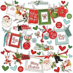 Simple Stories - Simple Vintage North Pole collection 12x12 Banner Stickers